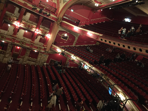 Bristol Hippodrome auditorium during incoming
