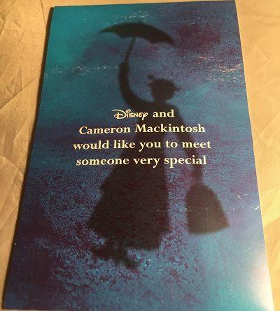 Mary Poppins ticket folder 2004