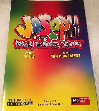 Joseph and the amazing technicolor dreamcoat Bristol 2013