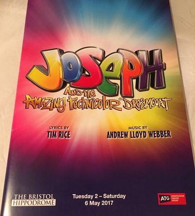 Joseph and the amazing technicolor dreamcoat Bristol 2017