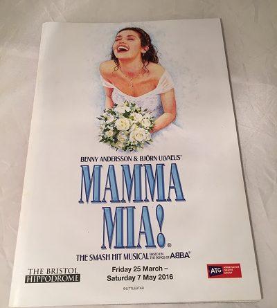 Mamma Mia Bristol 2016