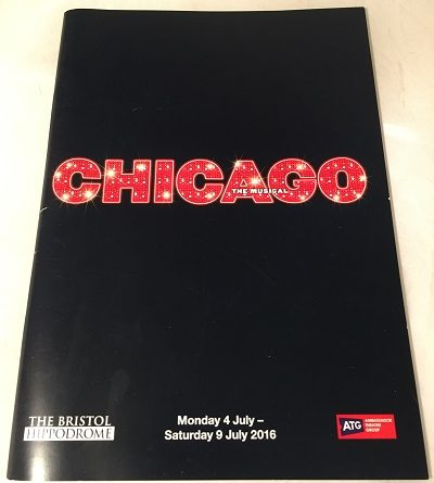 chicago the musical Bristol 2016