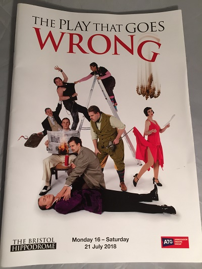 the play that goes wrong bristol hippodrome