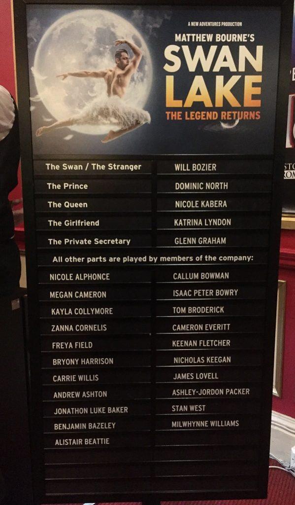 Matthew Bourne Swan Lake Cast List
