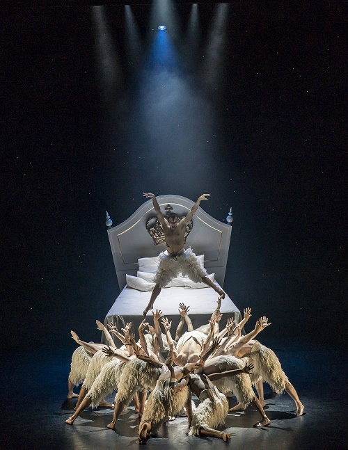 Matthew Bourne's SWAN LAKE. Will Bozier 'The Swan' and ensemble. Photo by Johan Persson (1)