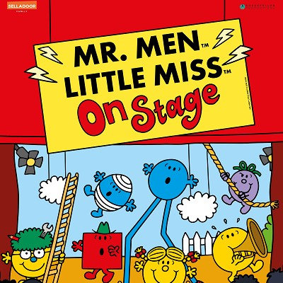 Mr Men and Little Miss on stage bristol