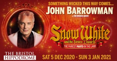 John Barrowman has been announced as the headline for Snow White and the Seven Dwarfs at the Bristol Hippodrome
