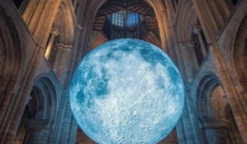 Luke Jerram Museum of the Moon Bristol Cathedral