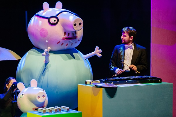 Peppa Pig my first concert Bristol. The popular children's cartoon performs with a full orchestra